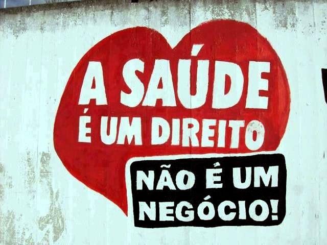 Muro pintado em Sergipe por militantes pela saúde pública - Créditos: Foto: reprodução