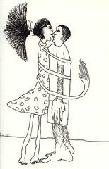 couple drawings man woman drawing love relationship hugging kissing happy men women raphael perez