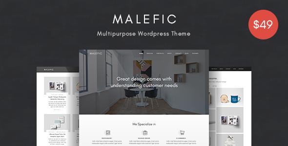 Malefic v1.0.1 – Multipurpose One Page Responsive WordPress Theme