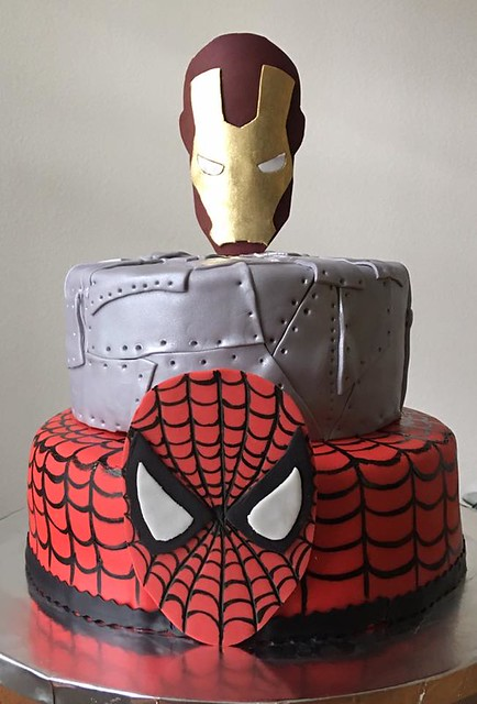 Ironman / Spiderman Cake by Cakes of Dreams