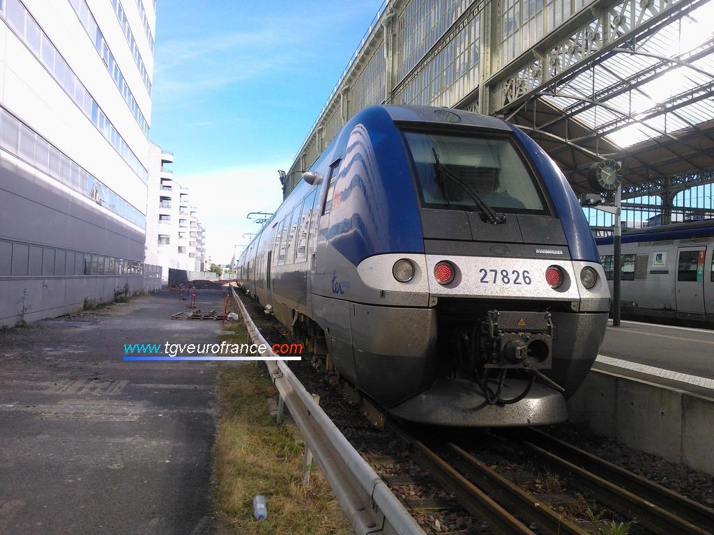 L'Autorail à Grande Capacité  Z 27825- Z 27826 SNCF à Tours Centre le 6 juillet 2018