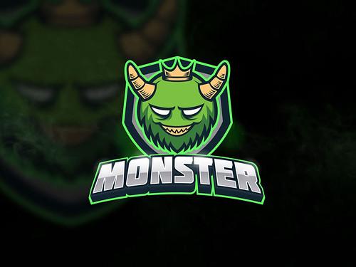 Green Monster Logo Template