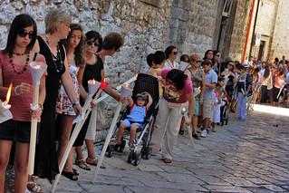 Grande. La processione di San Rocco del 2013 (foto archivio Onofrio Mancini)
