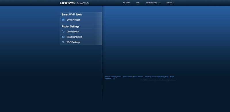 Velop Web UI - Home