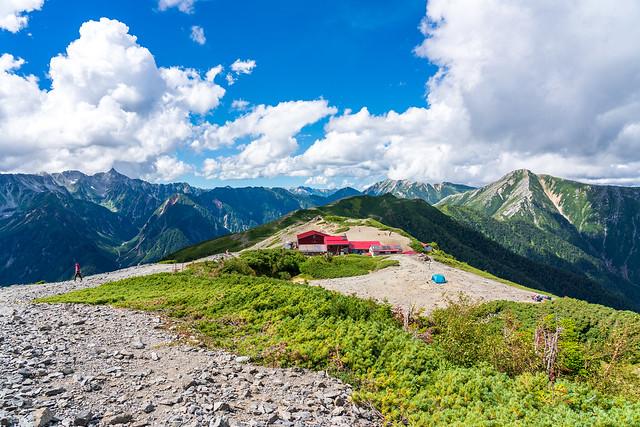 蝶ヶ岳からの風景
