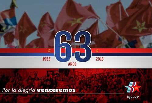 63 años de la UJC