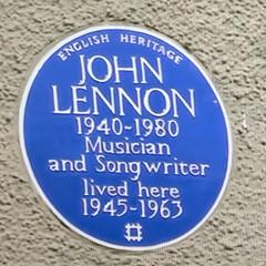Photo of John Lennon blue plaque