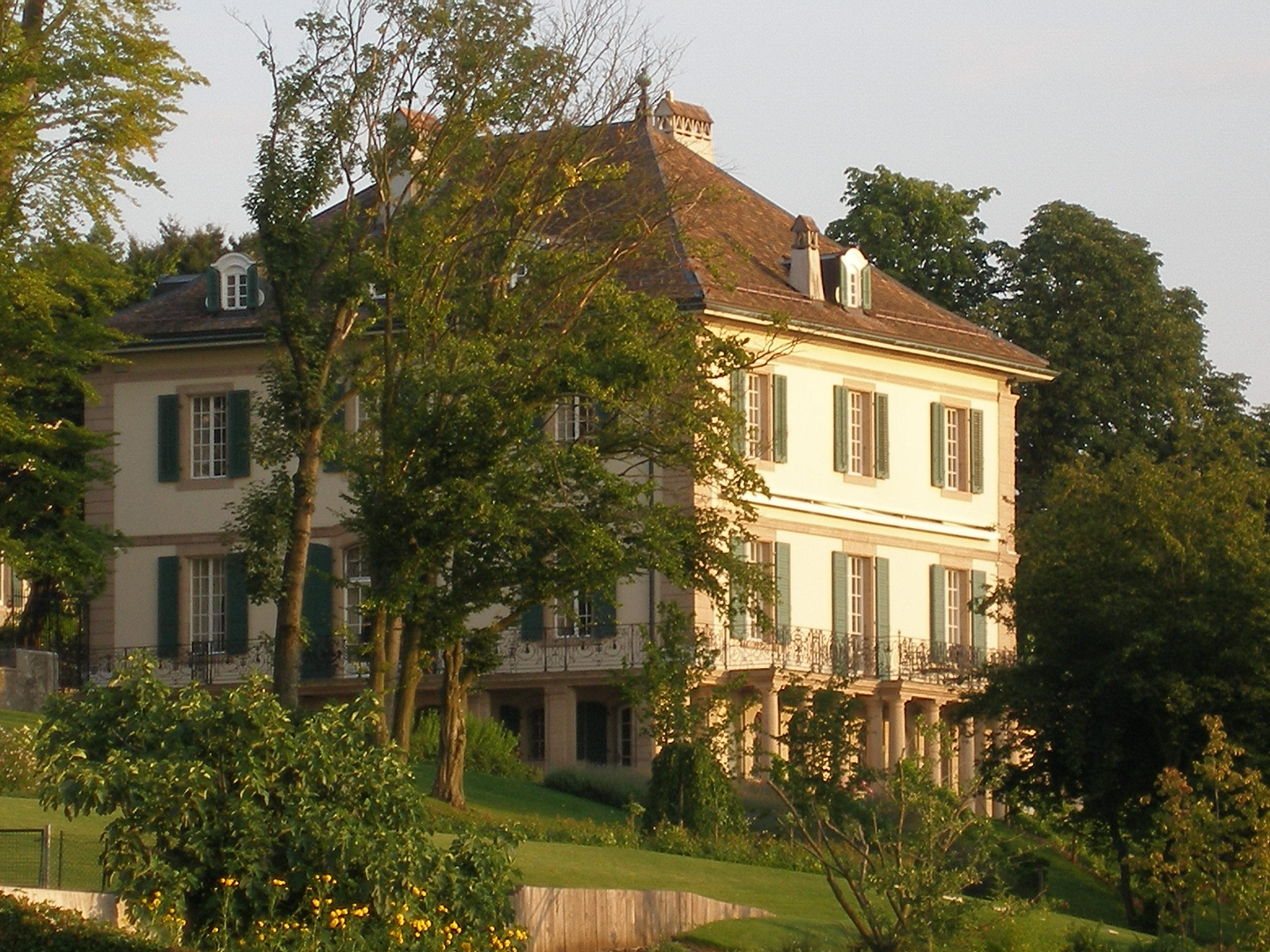 The Villa Diodati in Geneva, Switzerland. Photo taken by Robert Grassi on July 27, 2008.