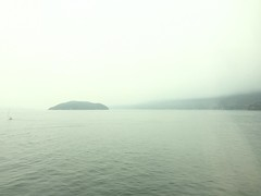 Ferry crossing, Vancouver to Nanaimo, in the heavy smoke
