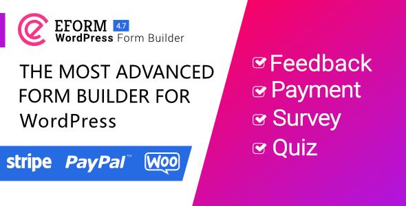 eForm v4.7.0 – WordPress Form Builder