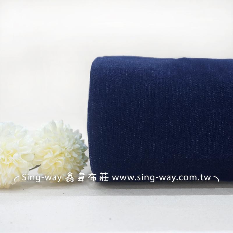 酵素洗中藍色牛仔 素色簡約無印 牛仔服裝布料 CE1290039