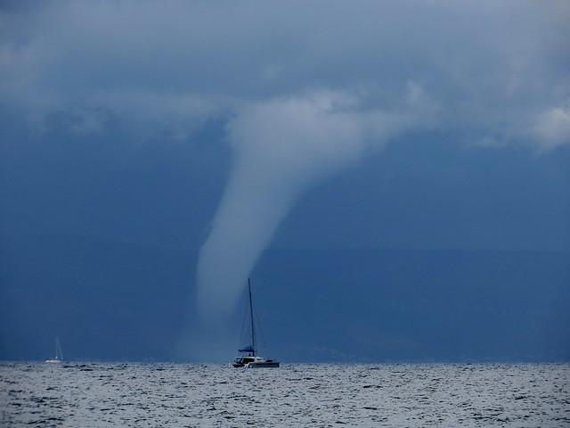 Waterspout near Split (Explored), Canon POWERSHOT SX240 HS