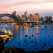 Panorama of Sydney harbour and bridge in Sydney city by anekphoto