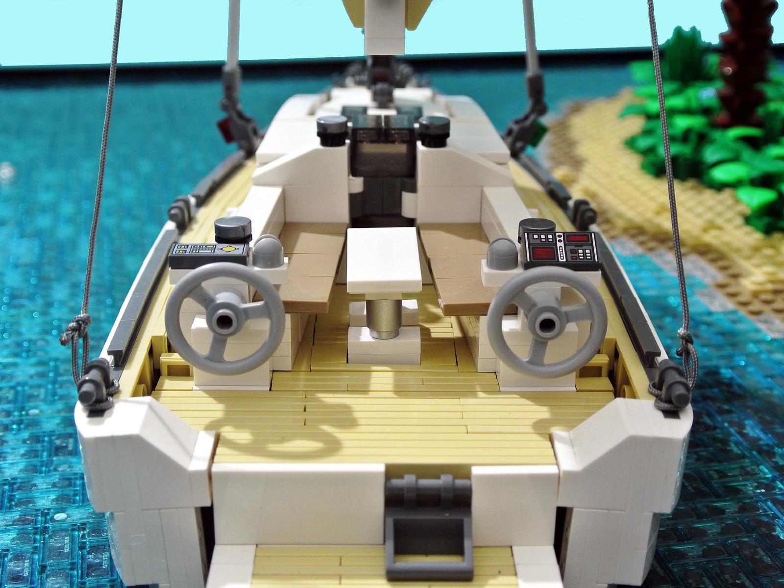 самоделка лего яхта