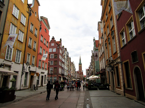 Long Street in Main Town of Gdansk