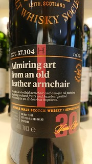 SMWS 37.104 - Admiring art from an old leather armchair