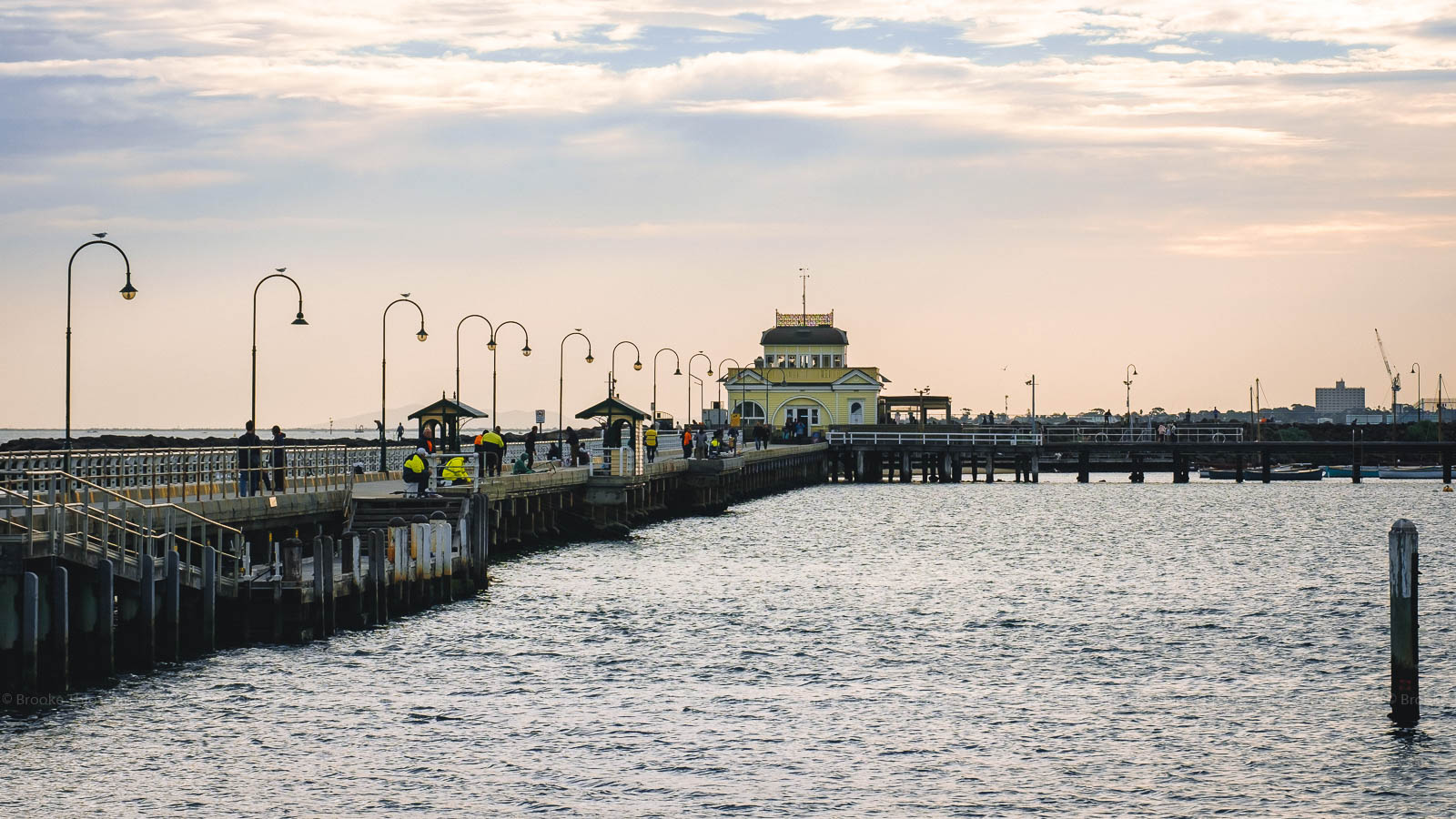 Before sunset at St Kilda Pier, Melbourne
