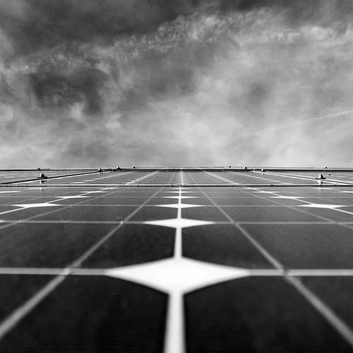 silicium-photovoltaics installation monocrystalline square