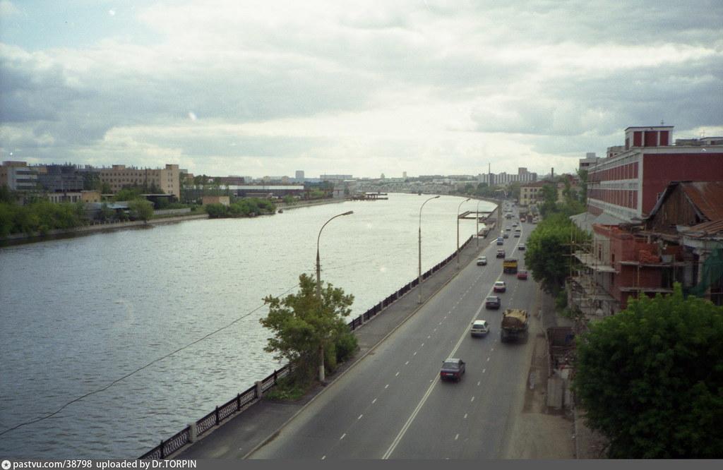 Платформа ЗИЛ и окрестности (15) Вид с Автозаводского моста 1997-1998