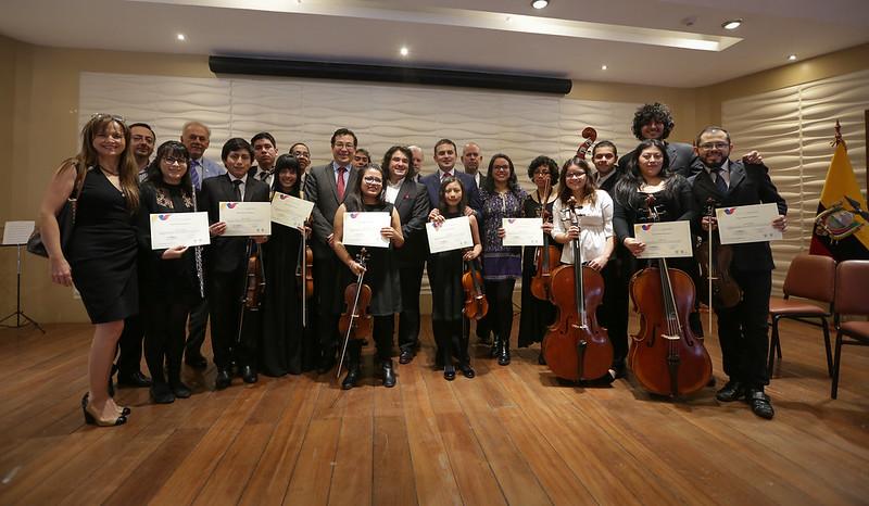Reconocimiento a la Orquesta Sinfónica Juvenil del Ecuador