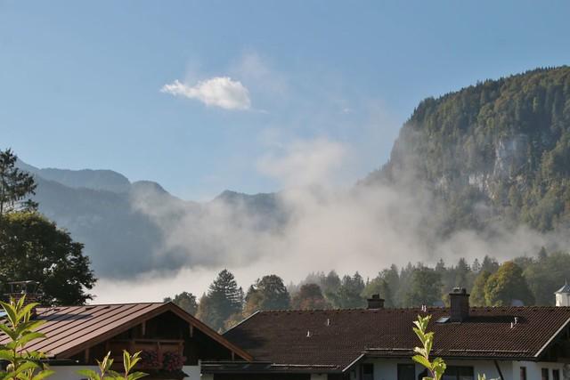 sun takes the fog