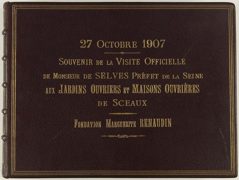 1907. Воспоминание об официальном визите префекта Сены месье де Селвиса в сад и дома работников в Со