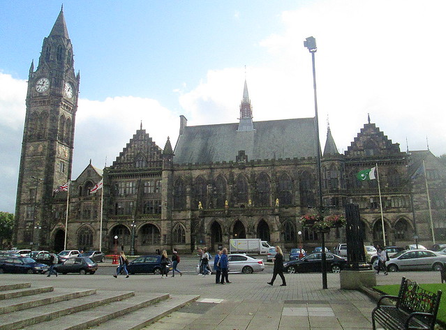 Rochdale Town Hall from War Memorial