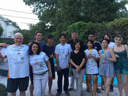 HTS - Pool and Ping Pong Party at the Coburn Residence with Taiwan University Students - July 24, 2017