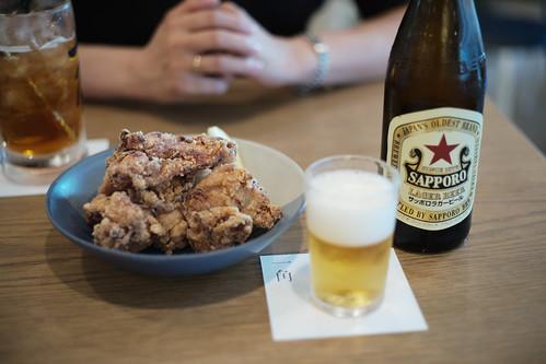 karaage & beer