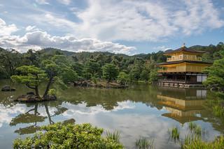 Изображение на Kinkaku-ji (Golden Pavilion Temple) близо до Kamigyō-ku.