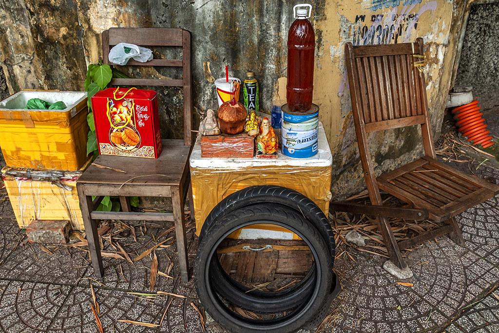 Odd shrine--Saigon