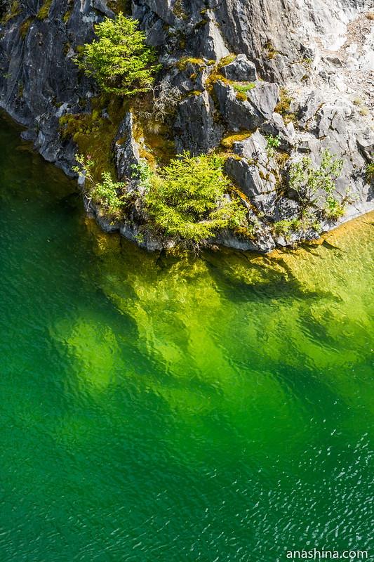 Изумрудная вода, Горный парк Рускеала