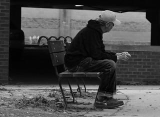 'Alone' V2 b-w -- Waltham (MA) Riverwalk 2018 DSC_0848 copy copy