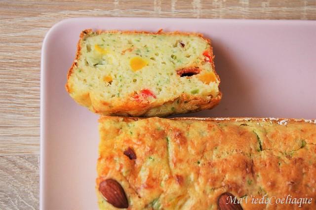 cake salé poivrons chorizo sans gluten