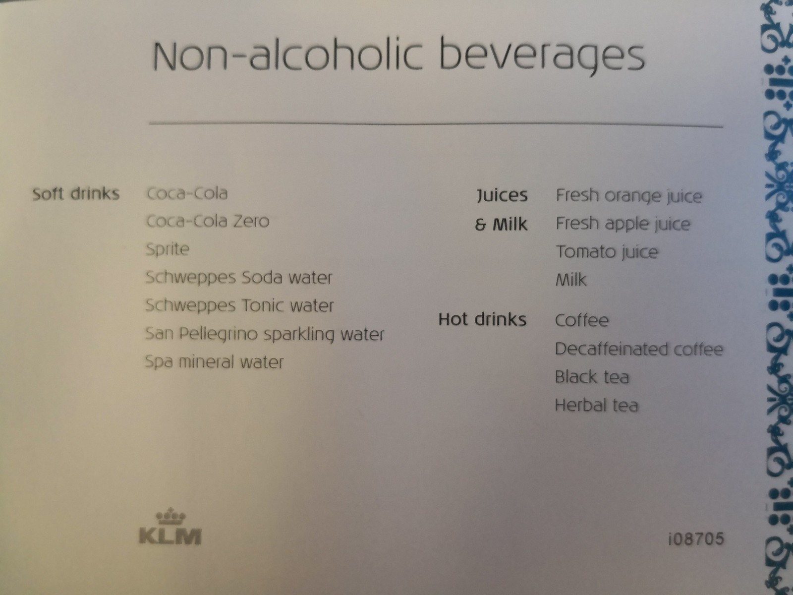 Non-alcoholic beverages
