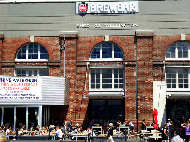 Wellington's Shed 22 is a historical building, constructed originally as a waterfront warehouse during Wellingtons early days, and is now the location of the popular Mac's BrewBar.