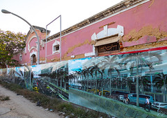 Old portuguese colonial warehouse turned into a brand new housing development, Benguela Province, Lobito, Angola
