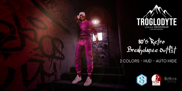 TROGLODYTE - 80's Retro Breakdance Outfit - Lilac