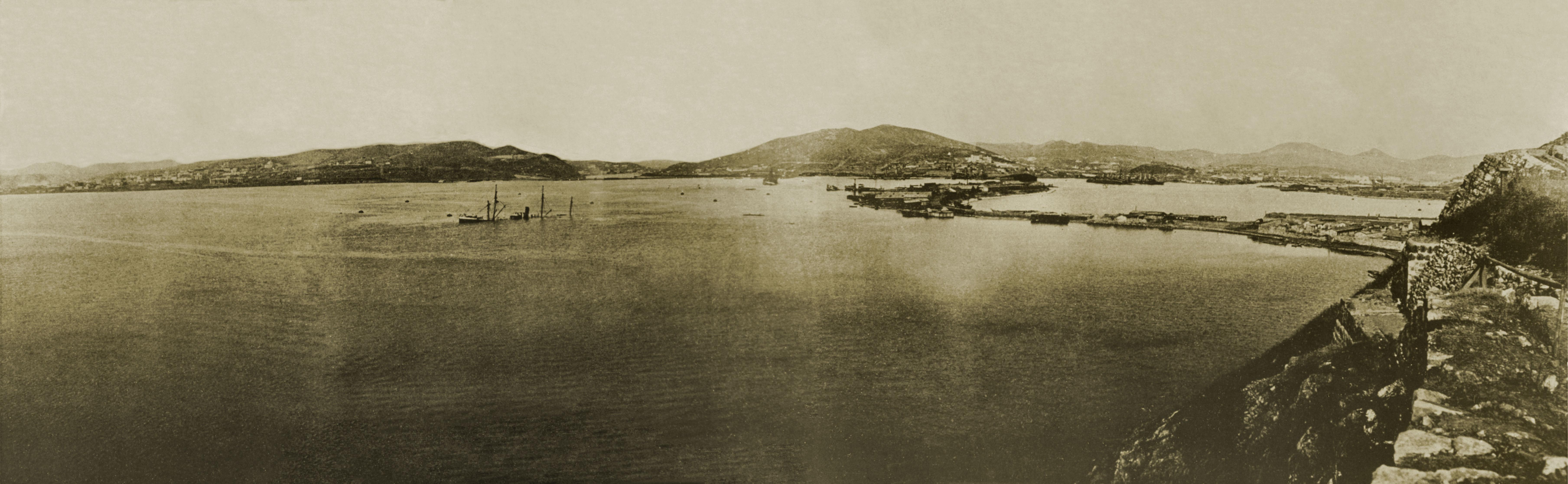 Внутрений рейд П-Артура-зима 1905