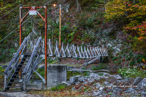 bridge footbridge landscape restricted nature mountain northcarolina topton usa
