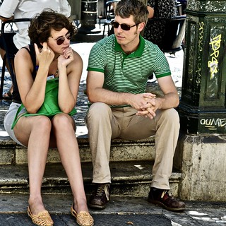 Tourist couple at Lisbon