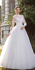 Best A-line Wedding Dresses : Elegant Tulle Bateau Neckline A-line Wedding Dresses With Lace Appliques