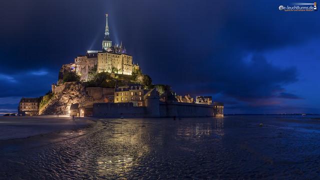Mont Saint Michel during the blue hour