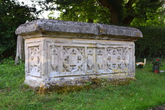reused medieval tomb chest