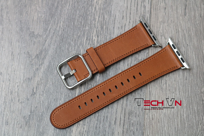 Techvn - Dây đeo apple watch Classic Buckle Brown 03