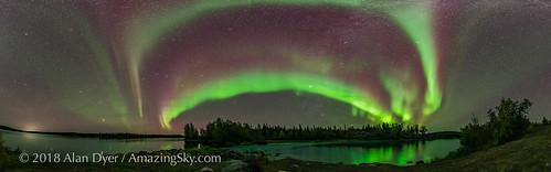 Aurora Panorama at Tibbitt Lake #2