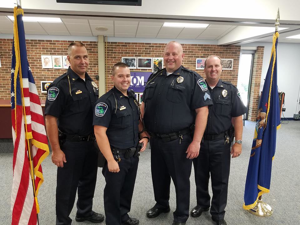 Meridian Township Police Holds Promotional Ceremony