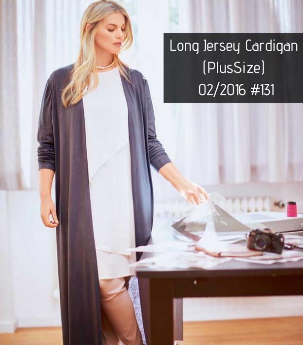 Long Jersey Cardigan PATTERN