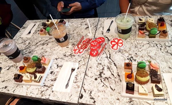 Patisserie Kirin dessert samplers