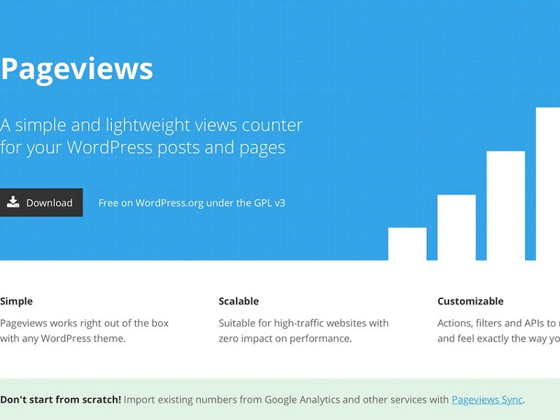 Pageviews for WordPress